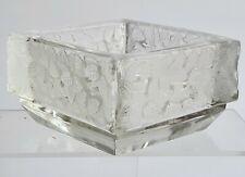 Vide poche en Cristal de LALIQUE FRANCE décor de feuilles moulées / Angle abîmé
