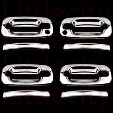 FOR 2000~2006 Chevy Tahoe Suburban Chrome 4 Door Handle Covers With PK
