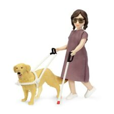 Lundby 60.8080 - DOLLS WITH CANE AND GUIDE DOG - Frau mit Blindenhund 1:18