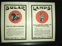 1910 SOLAR AUTO LAMPS BY BADGER BRASS MFG CO.ORIG VINTAGE 2 PG CAR LAMP AD