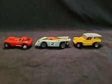 3 Vintage 1970s Ho Scale Slot Cars