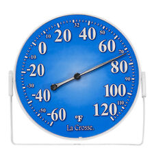 "104-1512A La Crosse 5"" Indoor/Outdoor Dial Thermometer with Bracket - Blue"