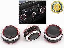3 X PULSANTE DI CONTROLLO RISCALDAMENTO PER VW POLO MK4 9N / 9N3 2002-2013