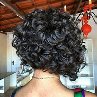 MagiDeal Women Short Curly Hair Afro Synthetic Heat Resist Cosplay Wigs 32cm