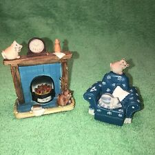2 Vintage Peter Fagen Cat Figurines-Made & Painted In Scotland-Sold As Is