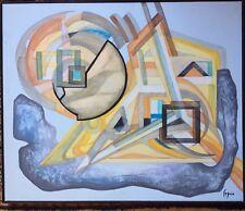 Abstraction géométrique Gouache signée SEGUIN ou SEQUIN XXème  bon état