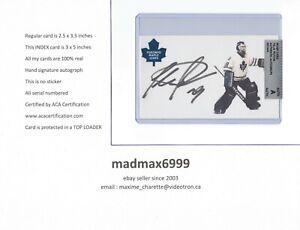 Felix Potvin Cat Toronto Maple Leafs AUTOGRAPH AUTO SIGNED INDEX HOCKEY CARD COA