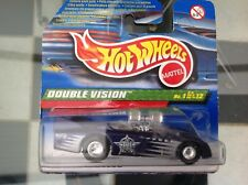 HOT WHEELS DIECAST T-HUNT DOUBLE VISION 01/12 2000 SHORT CARD MOC Real Riders