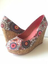 New DESIGUAL cork heel shoes sz. 9