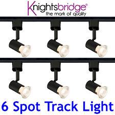 Knightsbridge Simple Circuit 6 Point éclairage sur rail lumière LED 3 Mètres