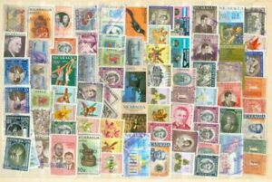 Nicaragua Group of 170 Mostly Diff used from a collection Lot#a387