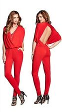 NWT Guess Red Open-Back Jumpsuit size XS