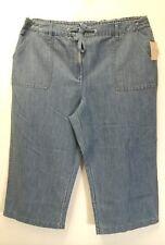 Covington Women's Light Blue Lightweight Denim Capri Pants Size 16