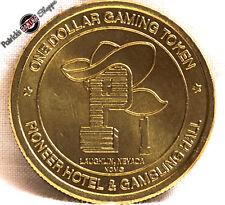 $1 Brass Slot Token Coin Pioneer Hotel Casino 1993 Ncm Mint Laughlin Nevada Rare