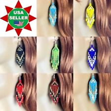 NEW HANDMADE BEADED FASHION MULTI-COLOR DROP/DANGLE HOOK EARRINGS NICKLE FREE