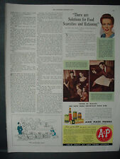 1943 A&P Ann Page Food Stores Mrs Jane Booth Grocery Vintage Print Ad 11979
