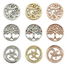 25mm Tree of Life Coins Disc for Locket Keeper Pendant Moneda Necklace & Bangles
