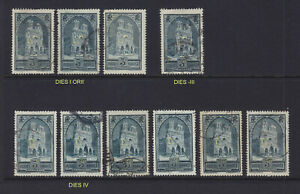 1930 FRANCE REIMS CATHEDRAL USED STUDY TYPES SCT.247 247A,B 248 Y&T 259 I-IV