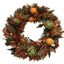 Fall/Thanksgiving Front Door Wreath with Maple Leaves. 17 Inch Styrofoam Wreath