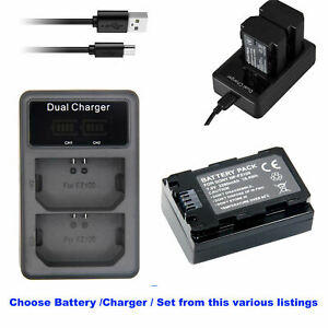 Battery or  LCD Charger for Sony NP-FZ100 A9 A7R III A7 III α9R α9S α6600
