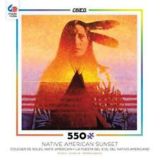 CEACO NATIVE AMERICAN SUNSET PUZZLE TWO FEATHERS 550 PCS #2324-3