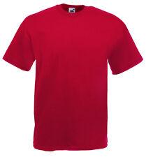 Fruit of the Loom Llano En Blanco Hombre cotton Camiseta NUEVO