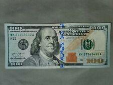 $100 One Hundred Dollar Bill 2013 Fancy Serial Number 37763633