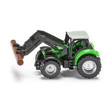 Siku 1380 Deutz Fahr Traktor mit Baumstammgreifer hellgrün (Blister) NEU! °