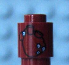 LEGO Dark Red Brick, Round 1 x 1 Open Stud with Human Heart Pattern