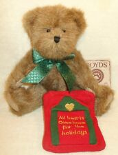 Boyds Plush Bear Homer Holding Quilt All Hearts Come Home For The H 00004000 Olidays New