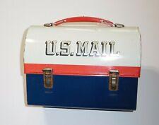 """Vintage<> """"US"""" Mail--Mr. Zip<>Metal Lunch Box<>"""