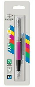 Parker Jotter Originals Pink Fountain Pen Plus 2 Long FREE Refills