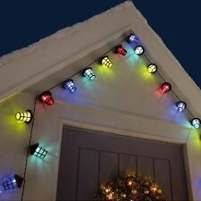 40 LED Coloured Party Lantern Garden Xmas Lights Festive Outdoor String Fairy