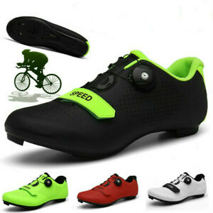 Men Road Cycling Shoes Self-Locking Bicycle Sneaker Athletic Spin Cleats Peloton