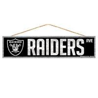Oakland Raiders Holzschild Türschild 43 cm,NFL Football,Fan Cave Wood Sign
