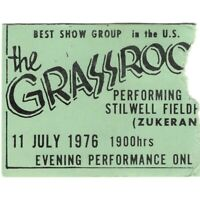 THE GRASS ROOTS Concert Ticket Stub OKINAWA JAPAN 7/11/76 TEMPTATION EYES Rare