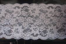White Stretch Lace Trimming 49mts 13.5cm Wide