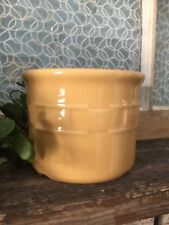Longaberger Woven Traditions Pottery Yellow 1 Pt Pint Butter Crock No Lid