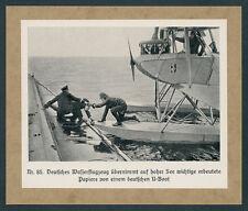 Kaiserliche Marine U-Boot Wasserflugzeug Albatros Doppeldecker Marineflieger ´18