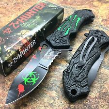 Z-Hunter Zombie Green Monster Claw Serrated Blade Fantasy Tactical Pocket Knife