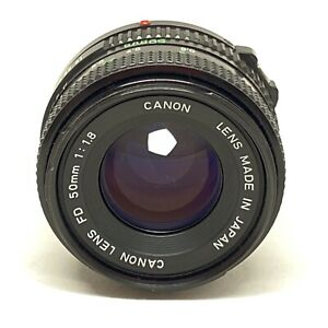 Canon NFD 50mm f/1.8 Normal Prime Manual Focus Camera Lens FD AE-1 F-1 T70 OFFER