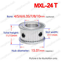 MXL 25 Teeth 4//5//6mm Bore 7mm Width Timing Belt Idler Pulley With Bearing