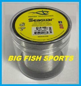 SEAGUAR INVIZX 100% Fluorocarbon Line 6lb/600yd 6VZ600 FREE USA SHIP! 06VZ600