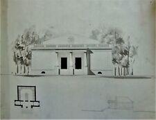 LAVIS-ENCRE-PLAN-PROJET-ARCHITECTURE-PALAIS-DEMEURE-R. VITTE-ATELIER-17-