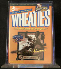 Wheaties 75TH Anniversary 24K Gold Jackie Robinson Signature Mini Box With Case