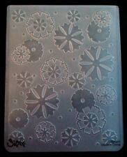 Sizzix Large Embossing Folder FLOWER FLOWERS SCATTERED fits Cuttlebug 4.5x5.75in