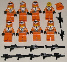 LEGO 8 NEW ORANGE BOMB SQUAD STAR WARS CLONE MINIFIGS TROOPERS MINIFIGURES MEN