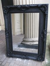 VERSACE MATT BLACK BOUDIOR LARGE HUGE FRENCH LEANER WOOD DRESS MIRROR 6FT x 4FT