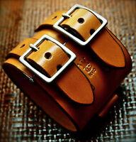 Leather wristband Cuff  JOHNNY DEPP Bracelet Made n NYC Custom by FREDDIE MATARA