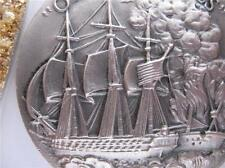 1+OZ. LONGINES STERLING SILVER 1812 FRIGATE CONSITUTION OLD IRONSIDES COIN+GOLD